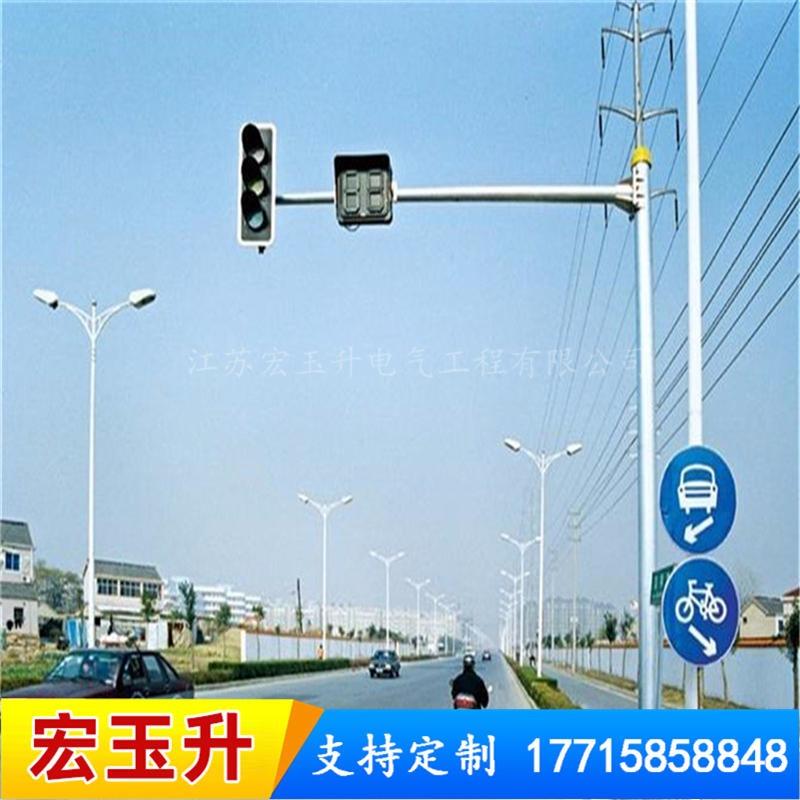 信號燈廠家直銷信號燈桿 供應 八角懸臂信號燈桿 定制交通信號燈桿
