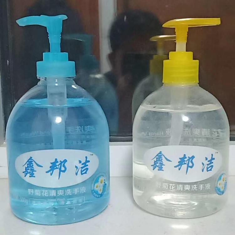 厂家直销500ml洗手液瓶  500毫升pet透明塑料瓶-按压式消毒液瓶