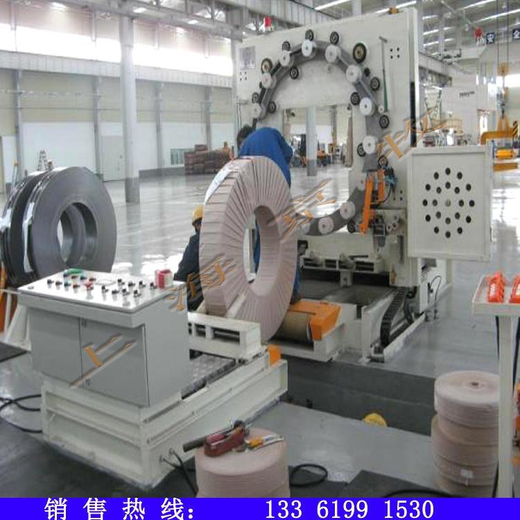 京牧專業生產鋼帶自動纏繞機帶鋼纏繞包裝機在線不銹鋼鋼帶自動纏繞機圖片