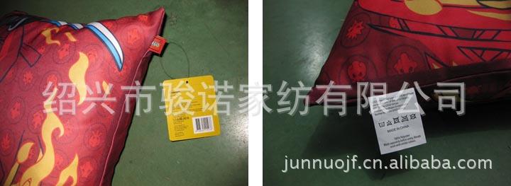 绍兴市骏诺家纺厂家供应订做色丁布靠垫,卡通抱枕示例图8