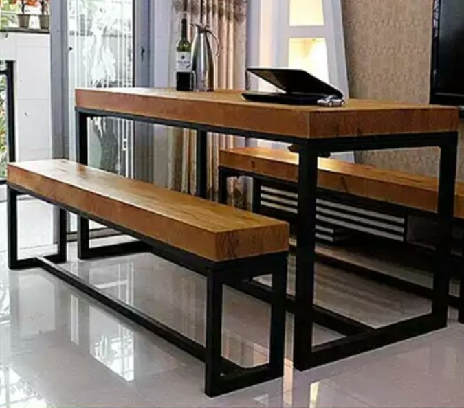 廠家直銷工業風餐廳桌椅 辦公桌椅 酒吧咖啡廳桌椅定做 歐美新款成套餐桌椅