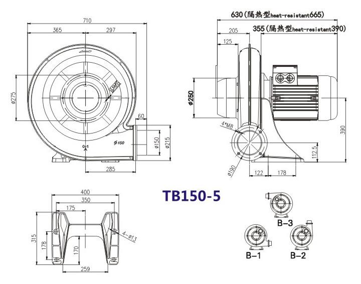 TB150-10  7.5KW透浦式鼓風機 燃燒機專用鼓風機 耐高溫中壓風機示例圖27