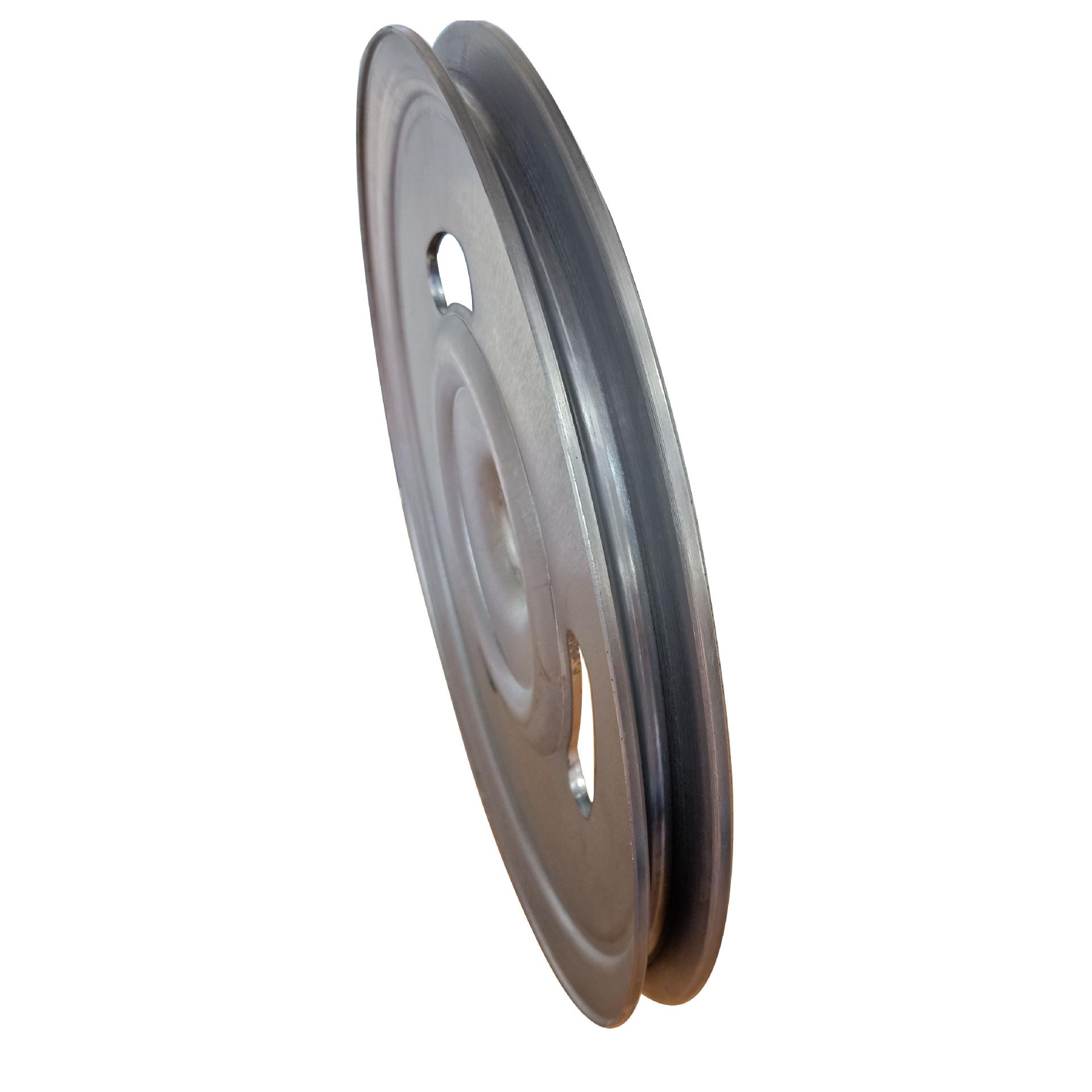 厂家直销新款熟铁旋压单槽劈开式皮带轮可定做异形轮示例图5