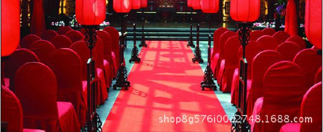 红地毯一次性加厚结婚礼舞台展览会开业喜庆典大红色条纹地毡整卷示例图1