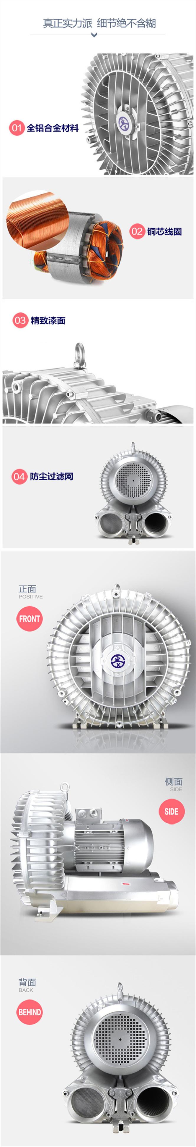 高压漩涡真空气泵 耐高温高压工业鼓风机 潼桥高压鼓风机厂家示例图4
