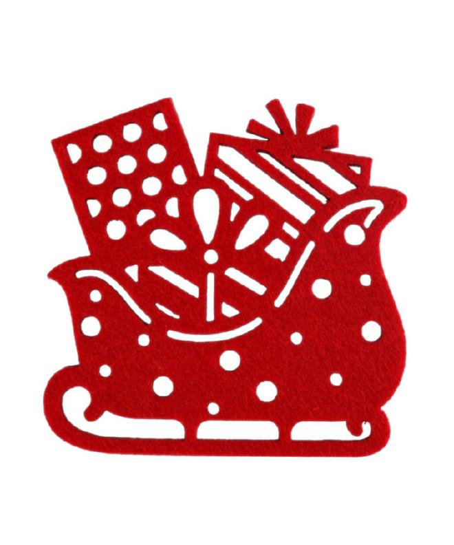 供应毛毡杯垫彩色隔热垫 吸水防滑餐垫镂空杯垫 颜色图案可定制示例图8