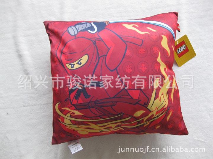 绍兴市骏诺家纺厂家供应订做色丁布靠垫,卡通抱枕示例图4