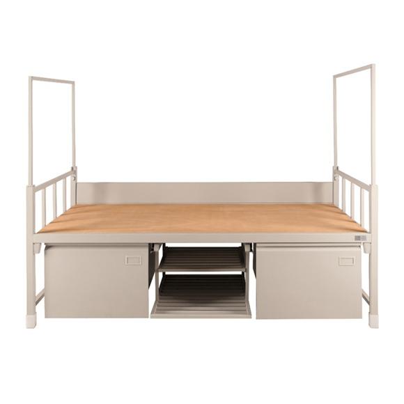 工廠員工鐵架床單層床上下鋪鐵床宿舍雙層部隊高低鐵床廠家