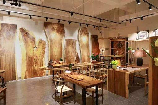 南美胡桃木实木大板餐桌胡桃木原木家具餐桌 南美花梨实木餐桌椅示例图29
