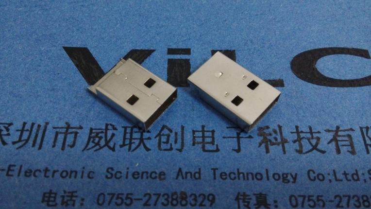 AM 鱼叉USB A公鱼叉SMT不模顶 老款/新款打端示例图2