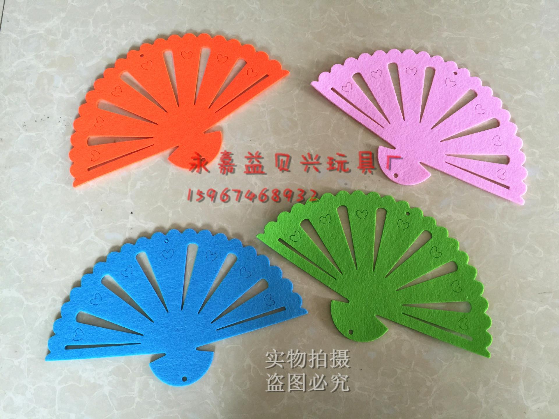 无纺布扇子吊饰幼儿园走廊创意空中挂饰室内布置 悬挂 中国风示例图1