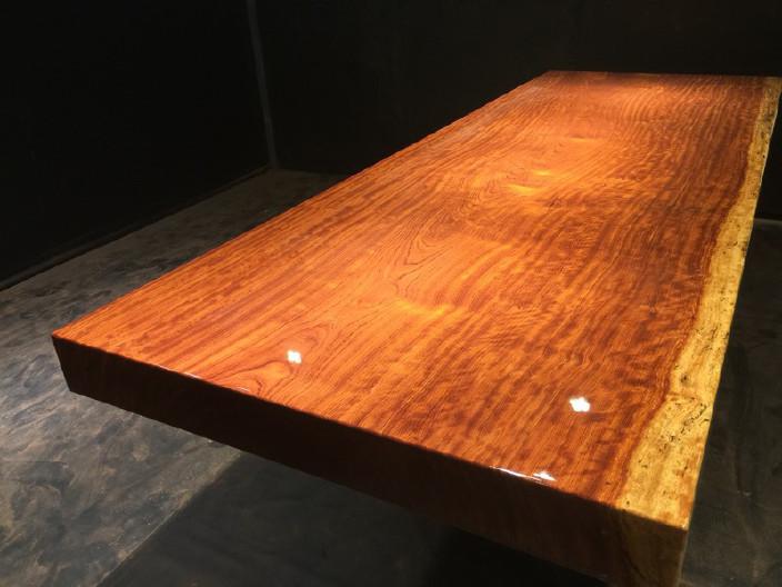 奥坎竞技宝和雷竞技哪个好大板原木餐桌 中式茶桌 老板办公雷竞技靠谱吗套装组合巴花大板示例图10