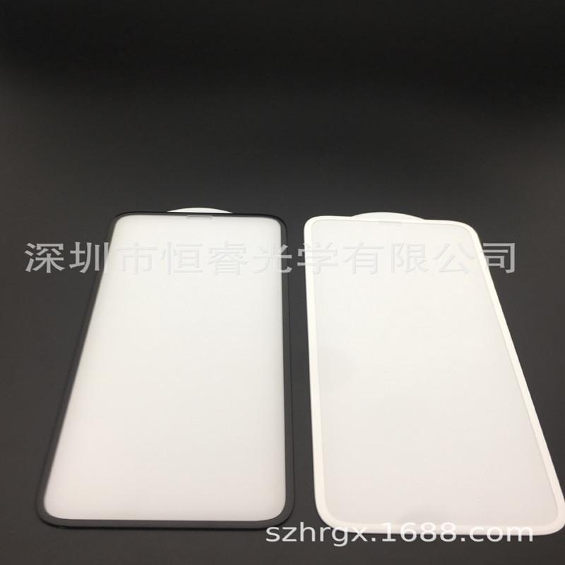 工厂直销 苹果7/IPX 纯白底板钢化膜 手机贴膜 冷雕蚀刻曲面 3D膜