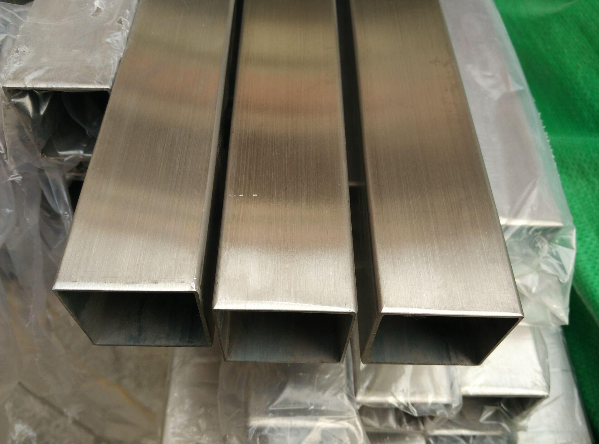 现货供应 不锈钢方管50*100*3.0拉丝方通 佛山厂家批发示例图3