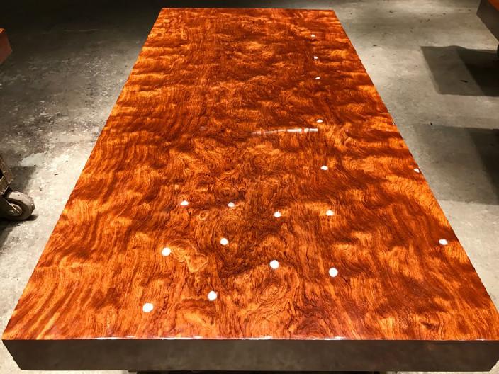 现货巴花大板竞技宝和雷竞技哪个好大板桌家用奥坎黄花梨办公桌原木大板台餐桌示例图12