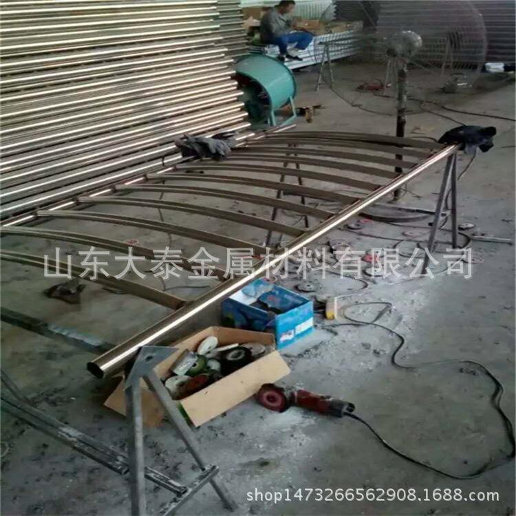 護欄鋼板立柱 不銹鋼復合管護欄鋼板立柱 防撞護欄鋼板立柱加工示例圖19