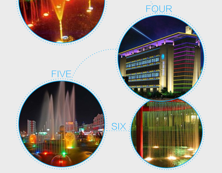 LED不锈钢水底灯户外景观LED水底灯公园广场水池水底灯示例图14