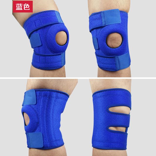 直銷運動跑步戶外保暖四彈簧騎行籃球羽毛球膝蓋護具男女登山護膝