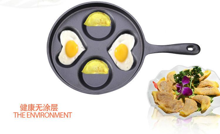 铸铁无涂层煎蛋锅迷你心形四孔不粘煎蛋器早餐锅定制工厂直销示例图32