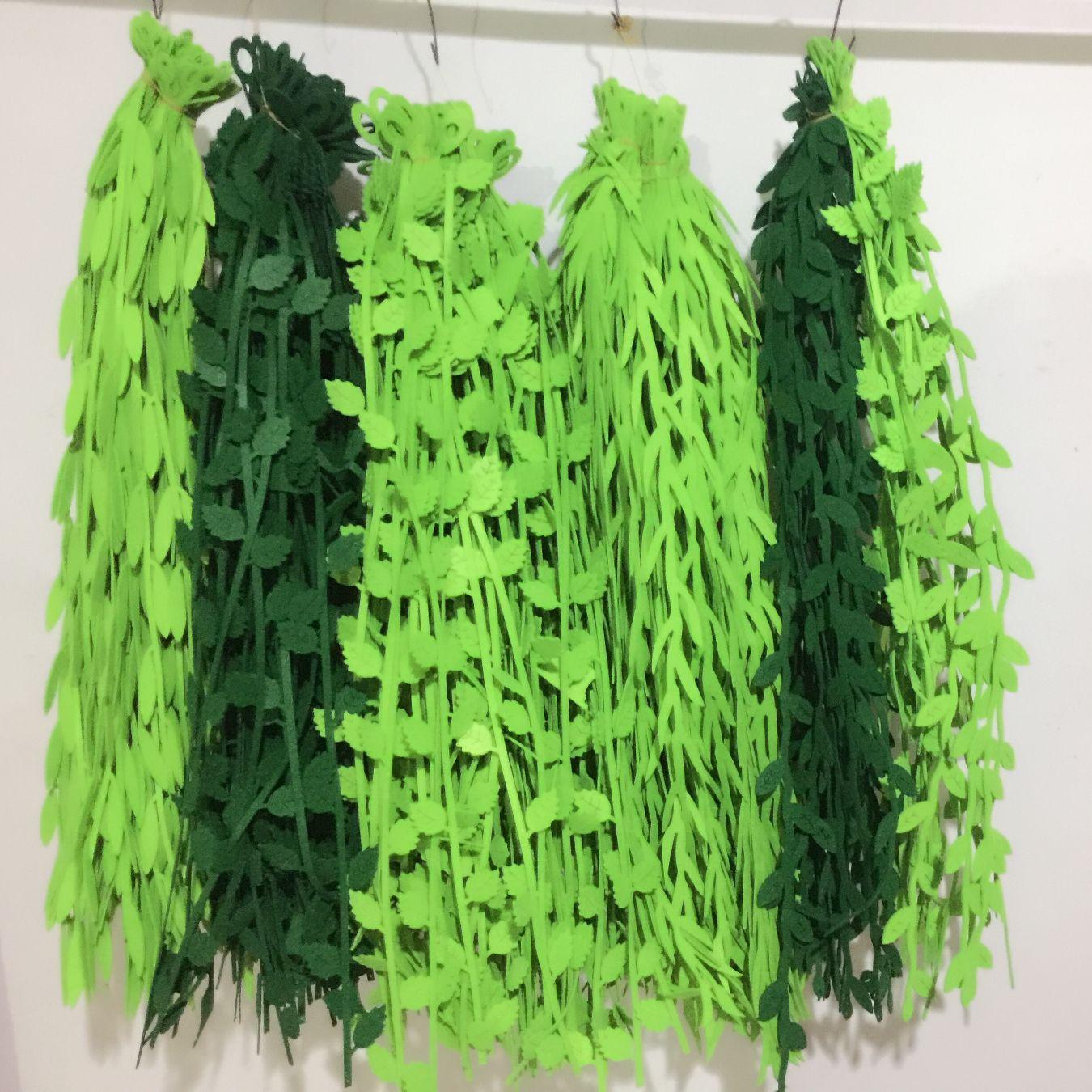 批发幼儿园 教室走廊挂饰 商场吊饰装饰 仿真树叶条柳条挂饰用品示例图1