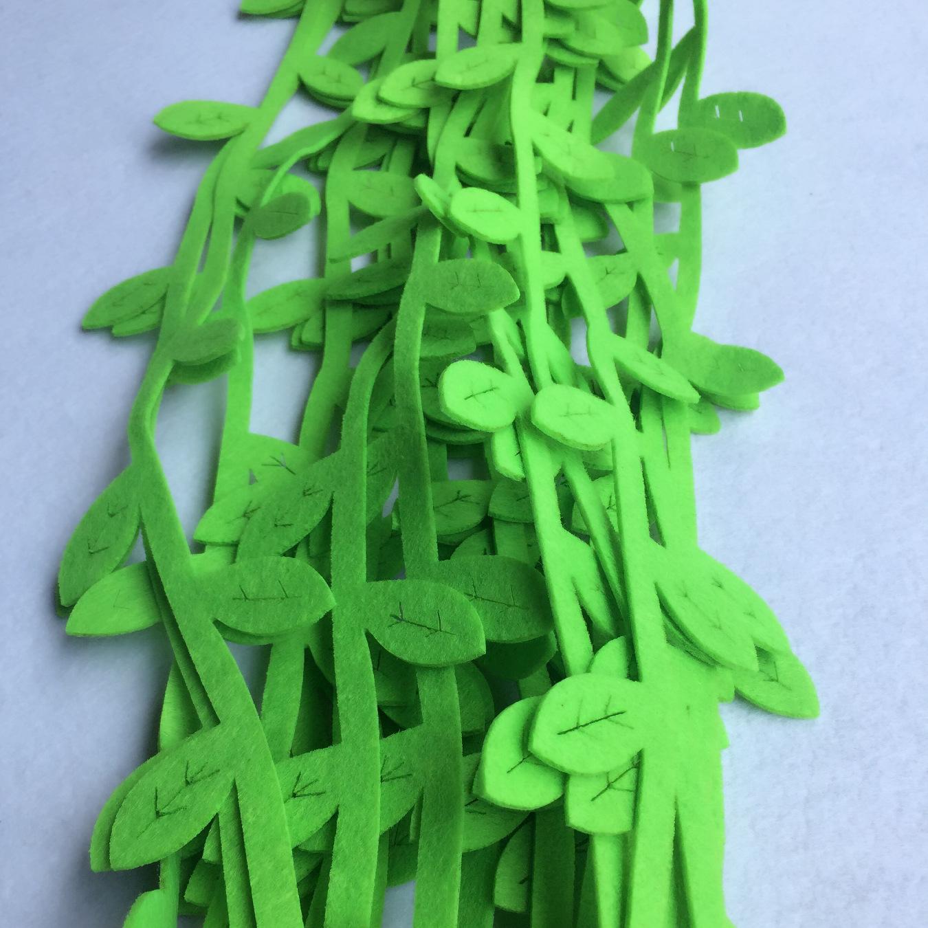 新款幼儿园装饰吊饰 空中吊饰个体橱窗挂饰 无纺布树叶挂饰 1米柳示例图2