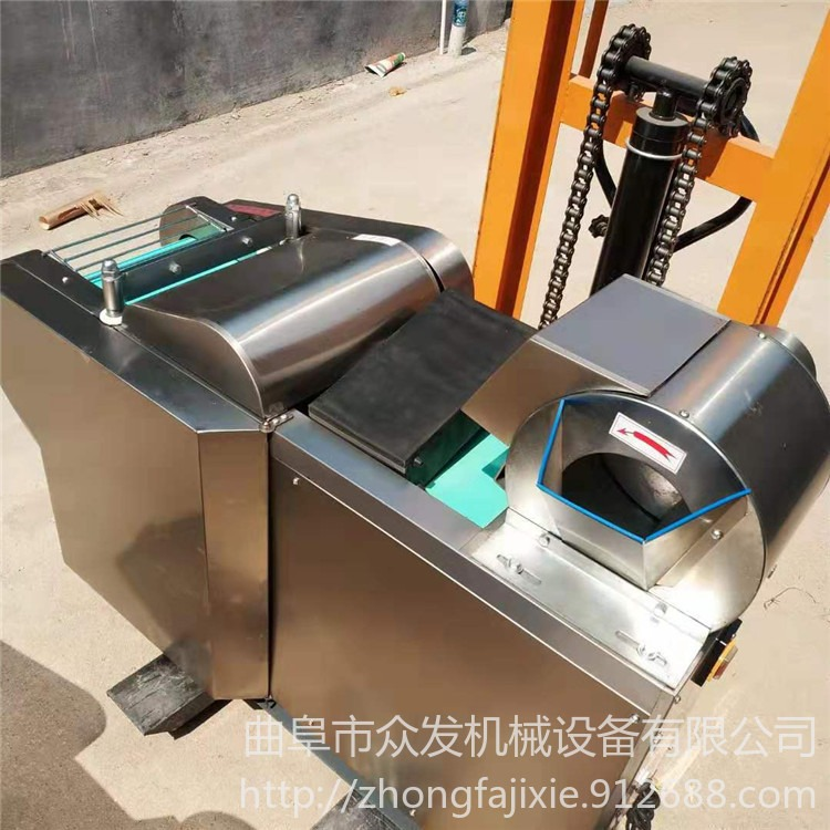 餐厅食堂电动切段机           不锈钢切丁机            炊事设备切菜机
