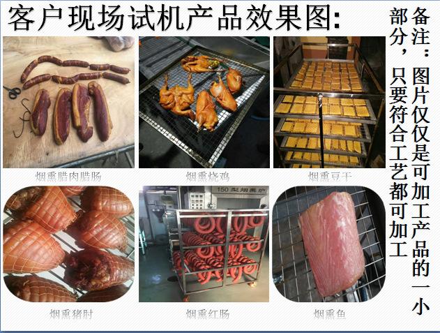 厂家供应不锈钢烟熏炉 哈尔滨红肠熏蒸炉 熏板鸭烟熏炉示例图17