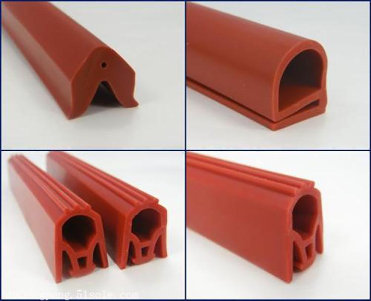 硅胶异型管 汽车门窗机柜冰箱集装箱密封条 耐高温抗老化硅胶管示例图7