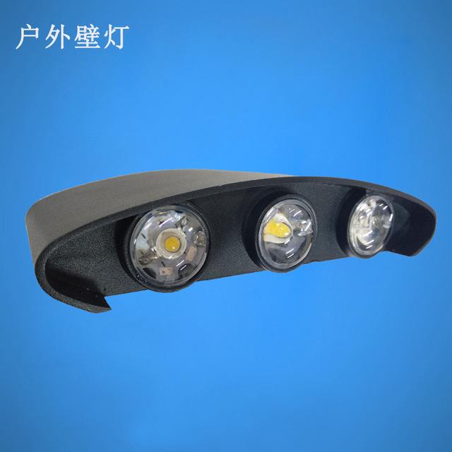 户外室内照明防水LED壁灯 上下双头发光户外走廊装饰亮化灯