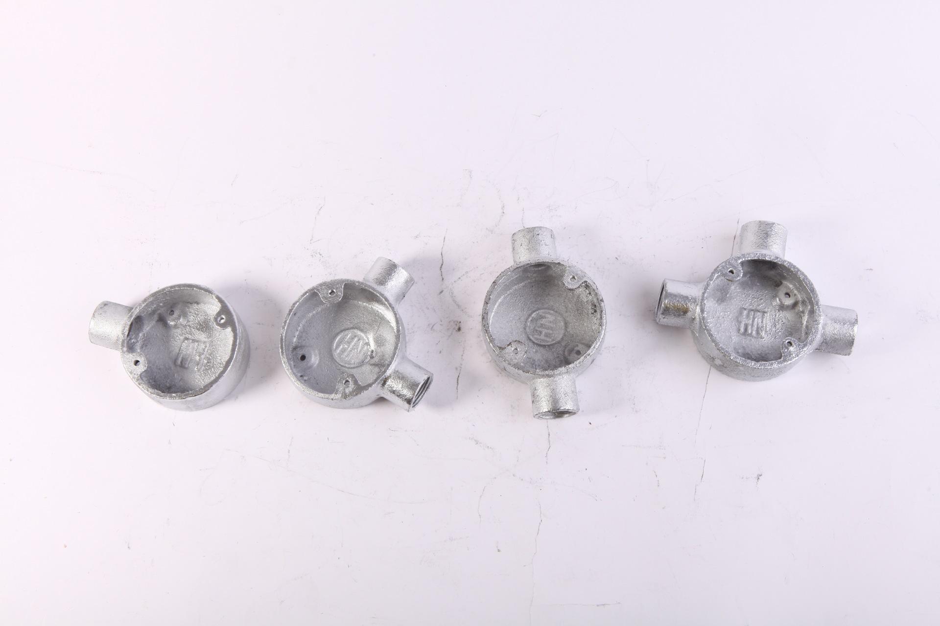 厂家直销热浸锌四级管配件 铸铁司令箱 25mm玛钢司令箱示例图5
