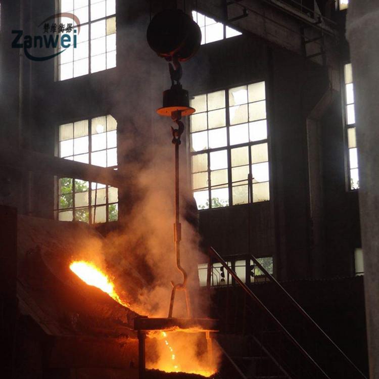 耐高温吊秤 浇铸冶金行业隔热电子吊钩秤 称铁水包吊磅示例图5
