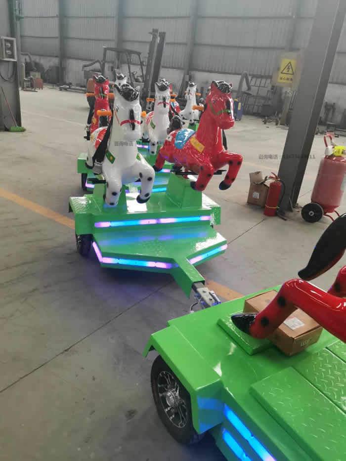 跑马火车,骑士小队,骑马无轨小火车,起伏马火车骑仕火车新款儿童游乐设备到郑州大洋游乐设备厂家直销骑士小队小火车生产厂家示例图14