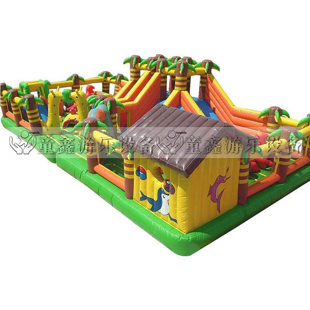 大型充玩具厂家_【厂家直销大型充玩具开心农场充城堡加工定制充游乐