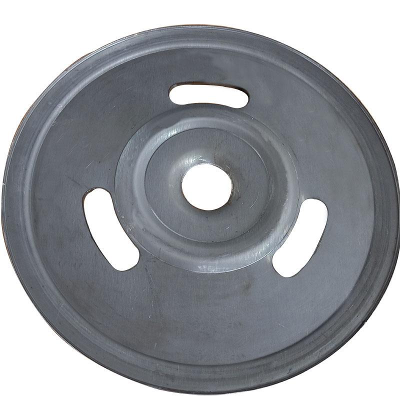 新款熟铁旋压单槽劈开式皮带轮可定做异形轮示例图2