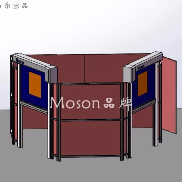 Moson品牌 焊接防护房 机器人焊接房 焊接工作站防护围栏 专业品牌