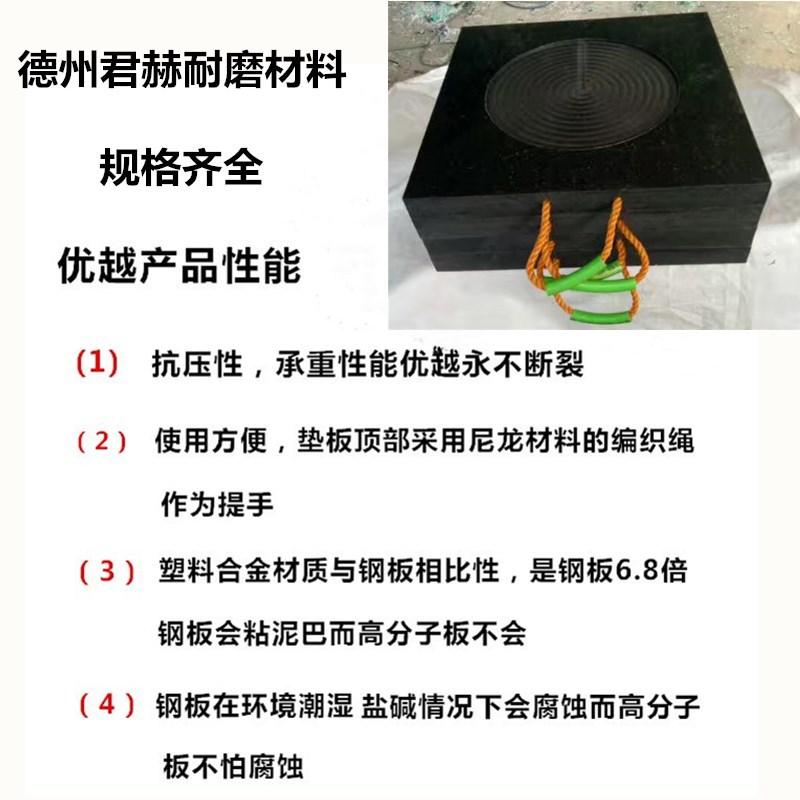 高分子聚乙烯抗压防滑吊车支腿垫板 中联泵车脚垫 起重机支脚板示例图2