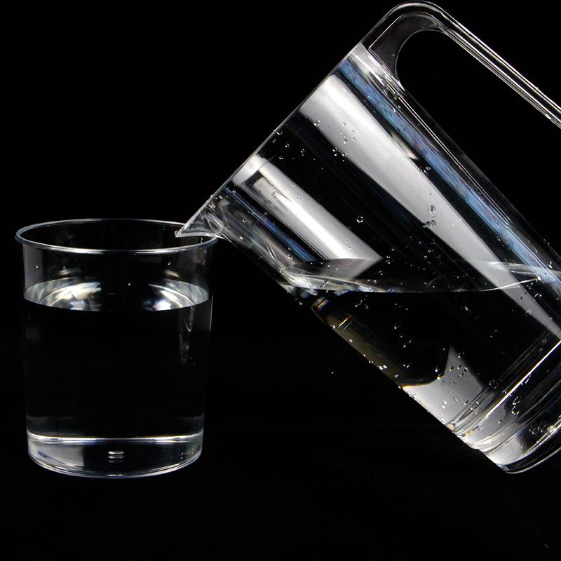 东莞工厂定制塑料分酒壶PS透明塑料冷水壶670ml果汁饮料壶尖嘴壶示例图9