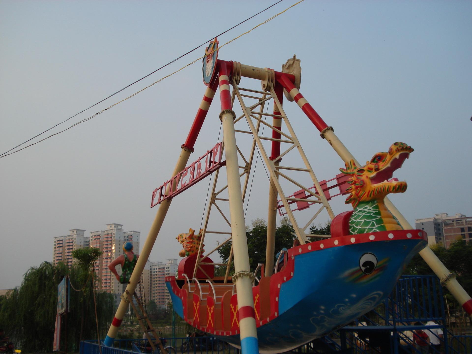 郑州大洋专业定制24座海盗船产品 大型户外游乐海盗船图片展示示例图4