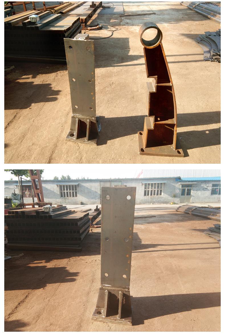 厂家直销桥梁防撞梁防撞护栏道路护栏市政草坪护栏不锈钢复合管示例图5
