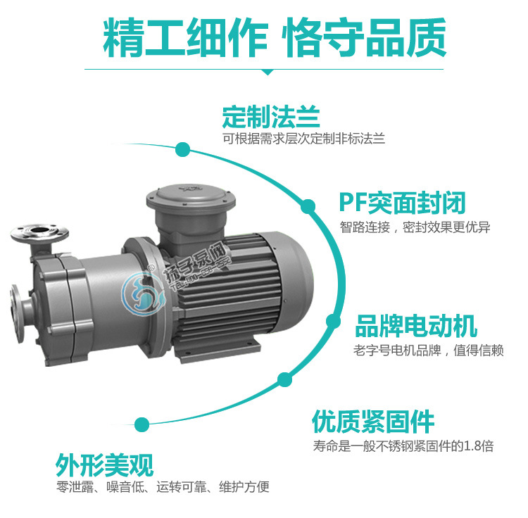 40CQ-32 不锈钢磁力泵 耐腐蚀耐高温磁力泵 304/316/316L 碱液泵示例图9