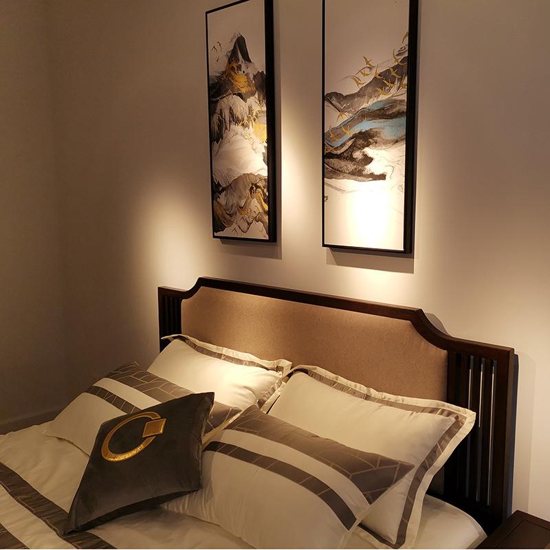 现代新中式实木床 简约卧室双人床 大婚床乌金木家具 可定制示例图3