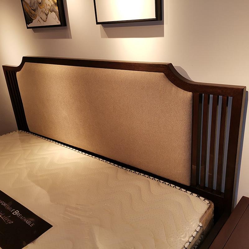 现代新中式竞技宝和雷竞技哪个好床 简约卧室双人床 大婚床乌金木雷竞技靠谱吗 可定制示例图5