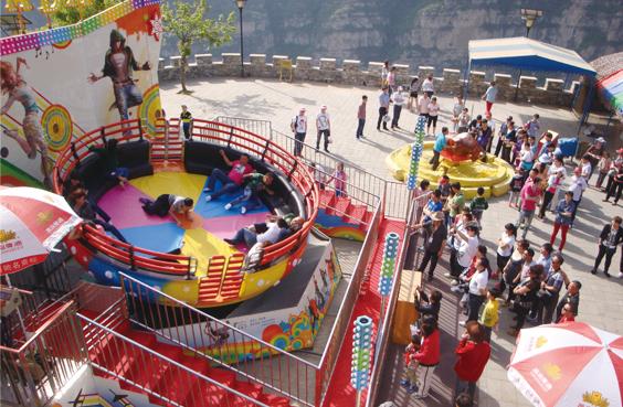 迪斯科转盘儿童游乐设备_厂家直销大型24座迪斯科转盘_郑州大洋示例图9