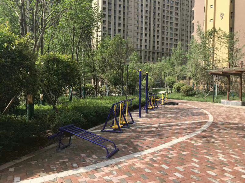专业供应公园广场小区室外健身路径 高质量双人坐蹬 户外健身器材示例图13