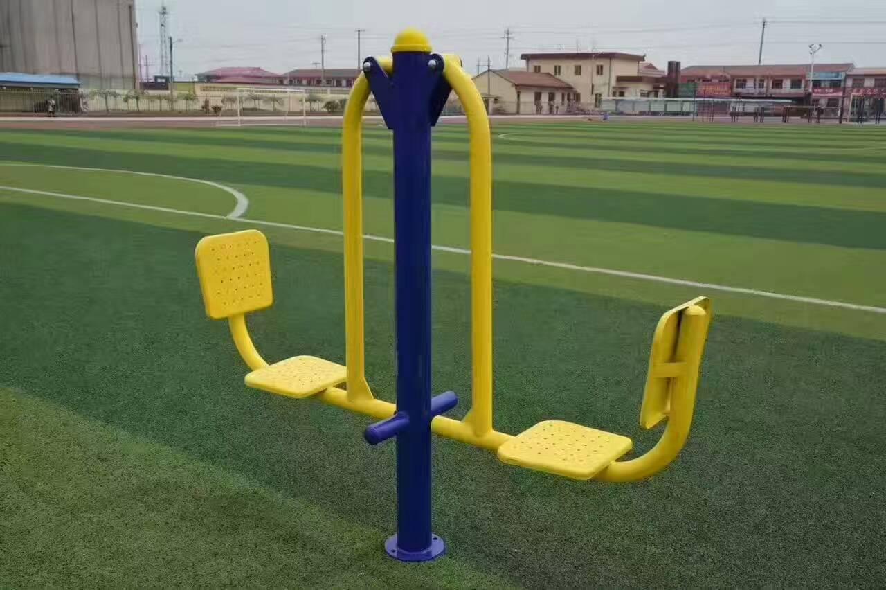 专业供应公园广场小区室外健身路径 高质量双人坐蹬 户外健身器材示例图8
