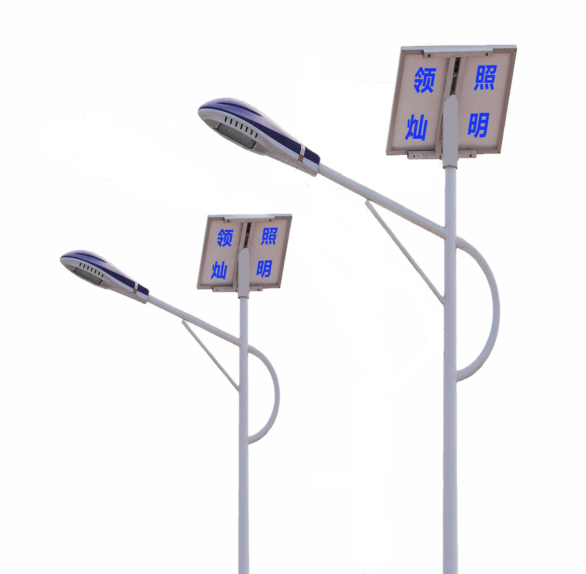 山东生产厂家定制旧村改造新农村建设6米30瓦LED锂电池太阳能路灯示例图2