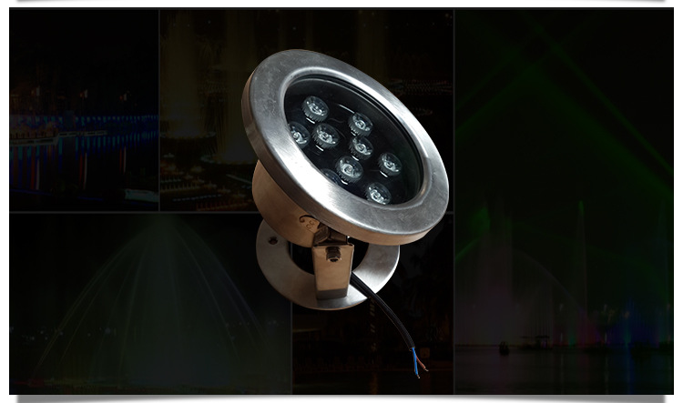 LED不锈钢水底灯户外景观LED水底灯公园广场水池水底灯示例图5