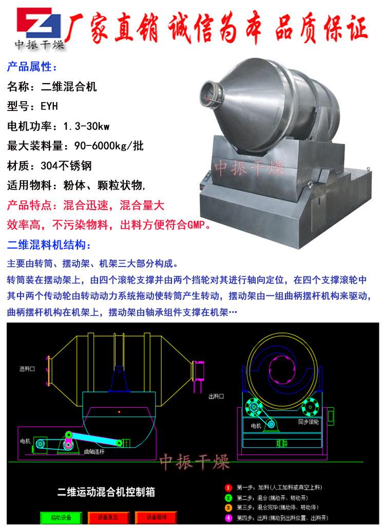 厂家直销EYH系列二维运动混合机粉末运动混料机 二维混合机搅拌机示例图4