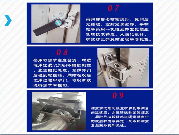 厂家供应不锈钢烟熏炉 哈尔滨红肠熏蒸炉 熏板鸭烟熏炉示例图13