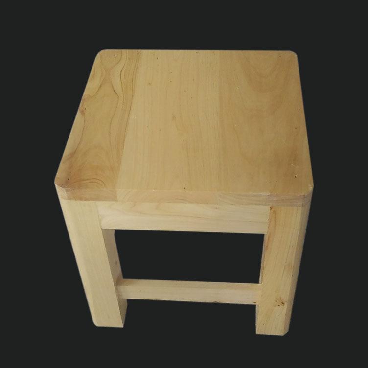 鑫繁木业直销柏木家用小方凳适用凳子实木幼儿园儿童小板凳木凳示例图9